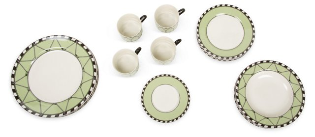 Geoffrey Beene Estate Dinnerware 19 Pcs.