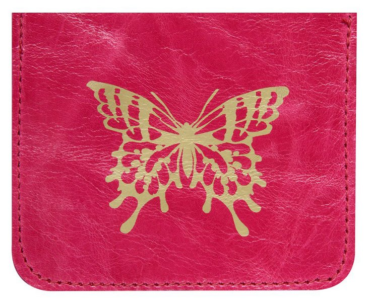 Butterfly Credit-Card Case, Fuchsia