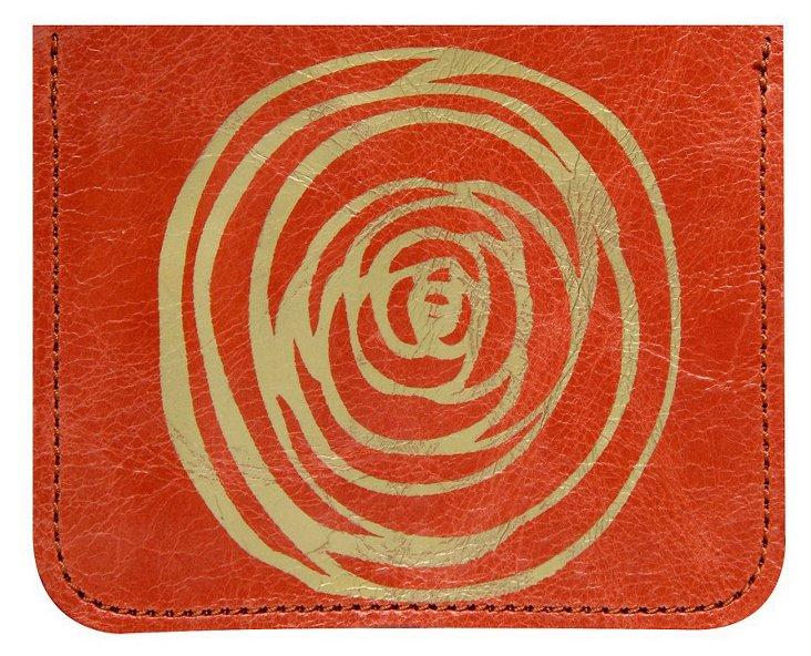 Flower Credit-Card Case, Orange