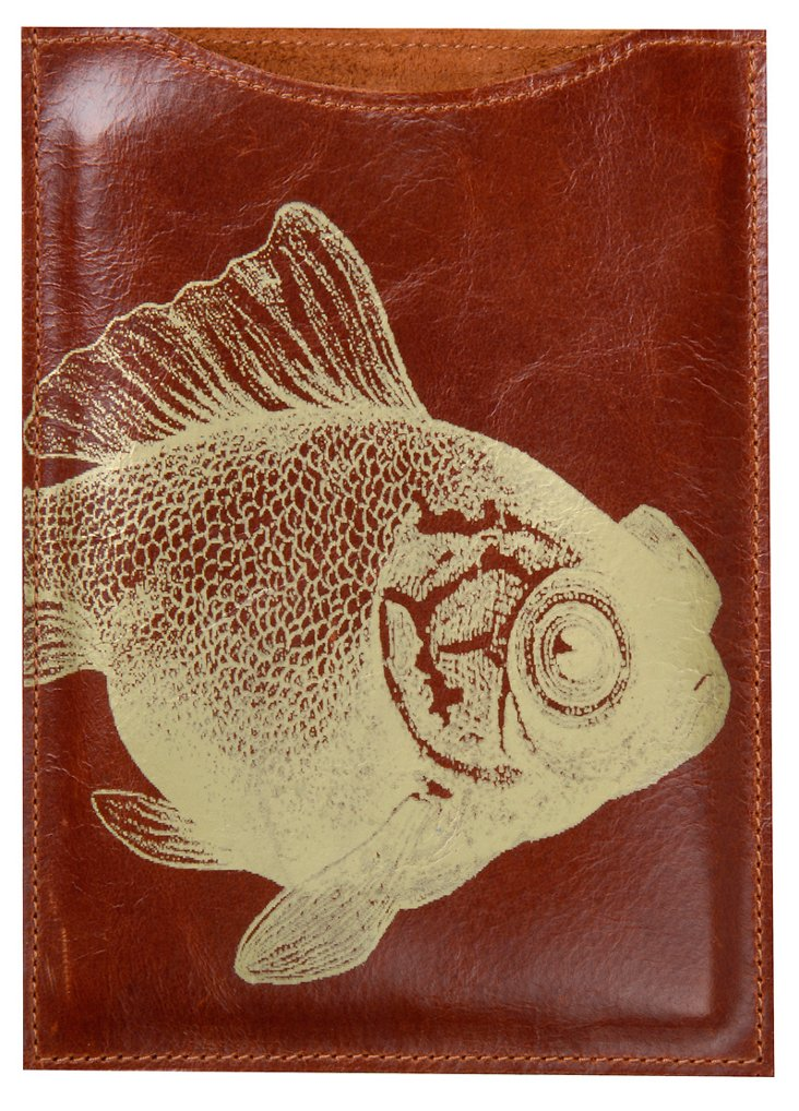 Fish Kindle Sleeve, Brown