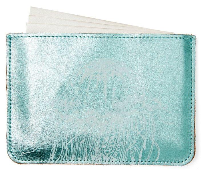 S/10 Cards in Jellyfish Case, Aqua