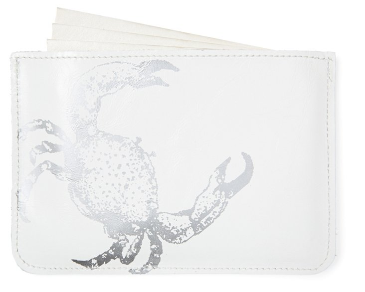 S/10 Cards in Crab Case, White