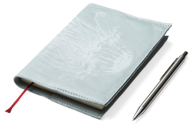 Blue Journal w/ White Jellyfish