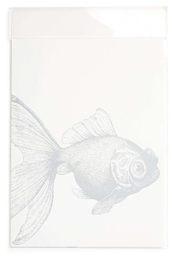 "11"" x 17"" Lucite Desk Blotter, Fish"