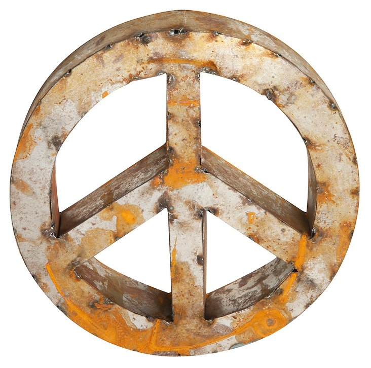 Recycled Metal Peace Sign