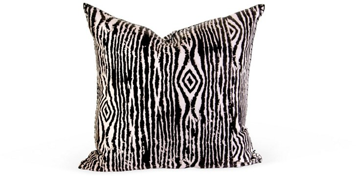 Faux-Bois-Pattern Pillow