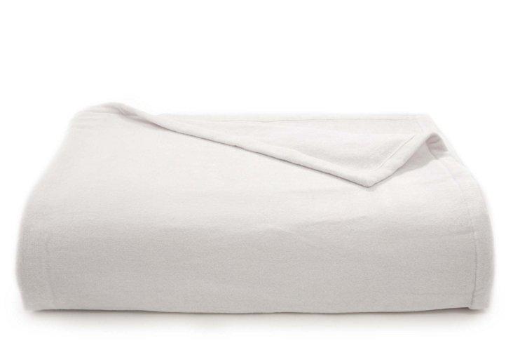 Chenille Blanket, White