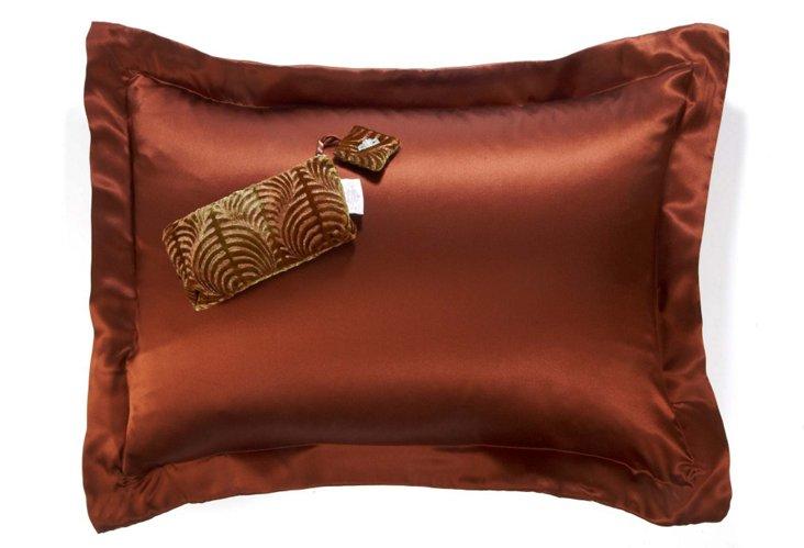 Silk Charmeuse Pillowcase, Cocoa