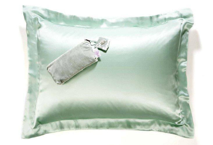Silk Charmeuse Pillowcase, Sage