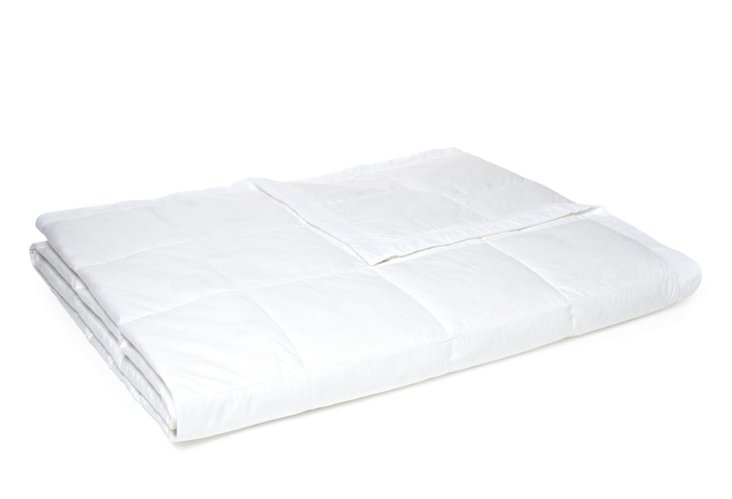 Tropical Weight Down Blanket, White