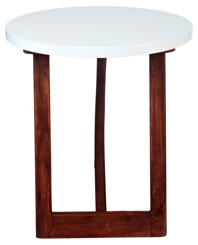 Jeyo Side Table, White