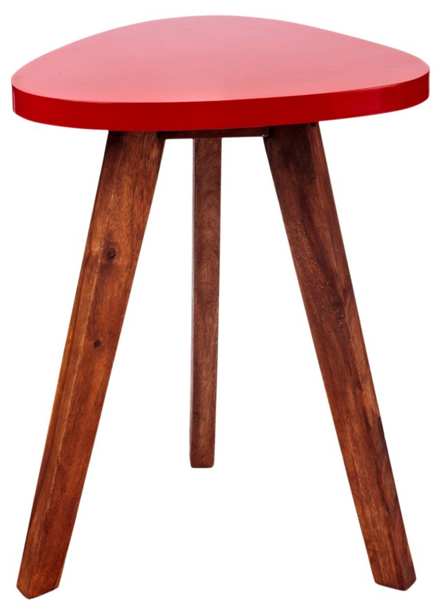 Jeyo Triangle Stool, Red