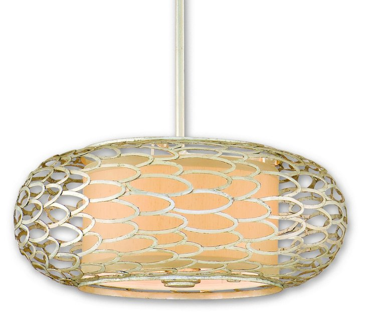 Cesto 3-Light Pendant, Modern Silver