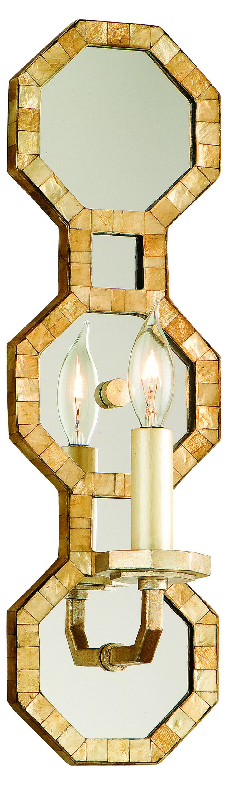 Regatta 1-Light Wall Sconce, Gold Leaf