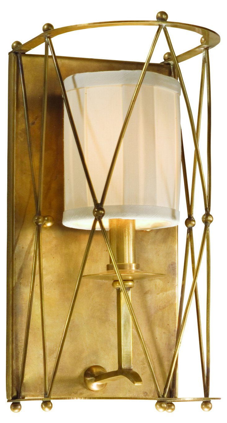 Argyle 1-Light Wall Sconce, Aged Brass