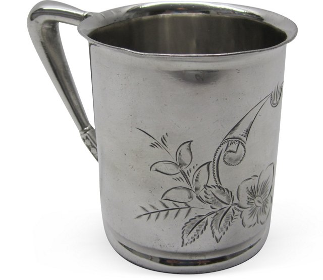 19th-C. Silverplate Cup I
