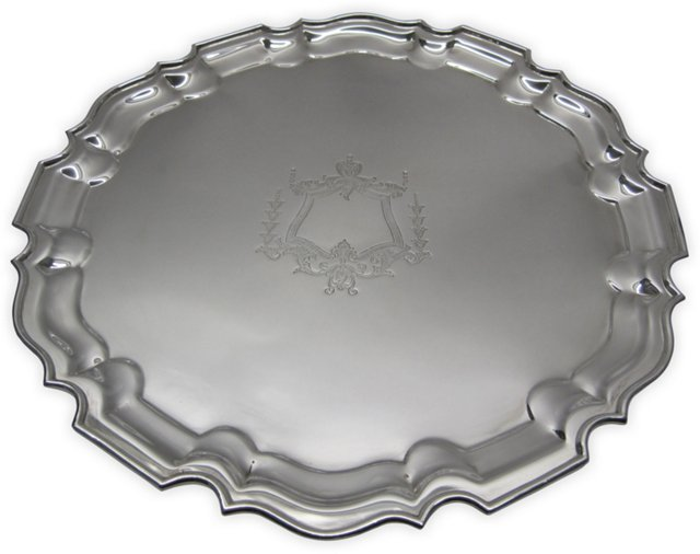 Chippendale-Style Silverplate Tray I