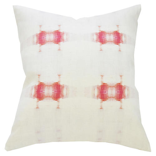 Glimpse No. 2 20x20 Pillow, Pink Linen