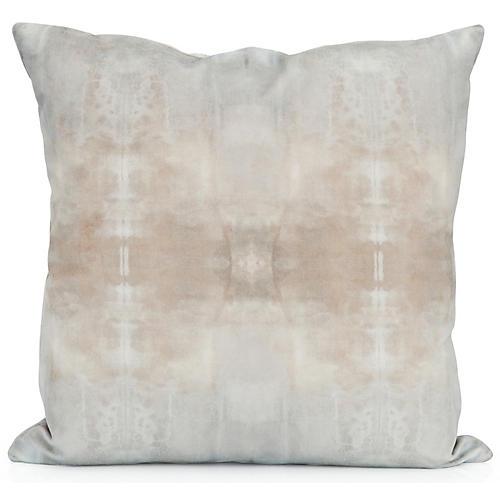 Ghost No. 2 20x20 Pillow, Natural Velvet