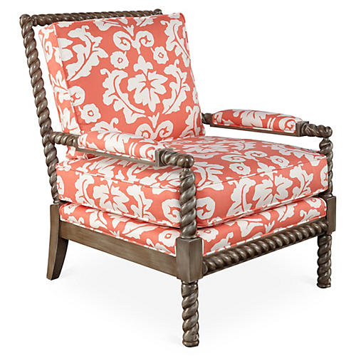 Parthie Chair, Coral
