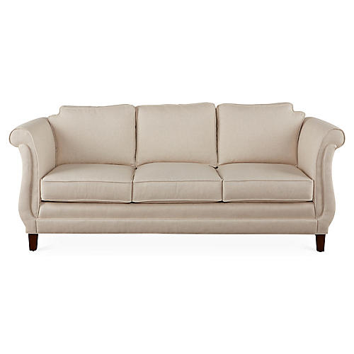 "Church Hill 86"" Sofa, Cream"