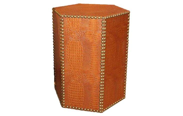 Blake Textured Side Table, Burnt Orange