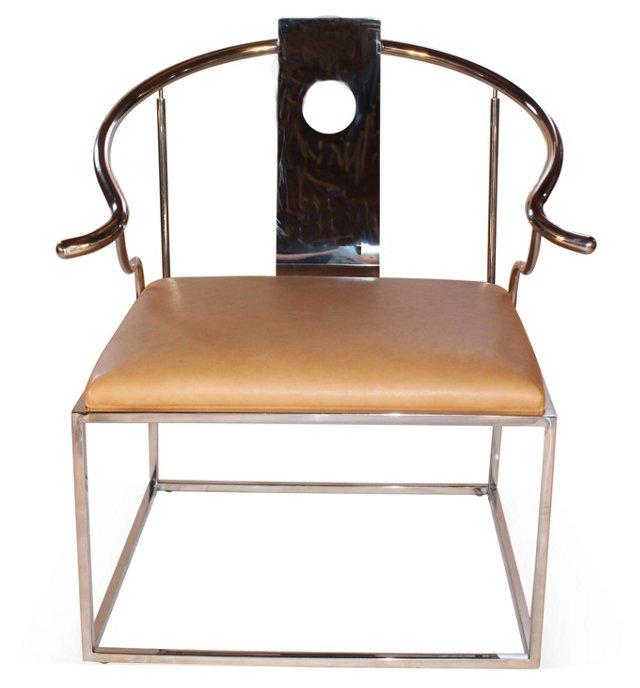 Soho Leather Chair, Caramel