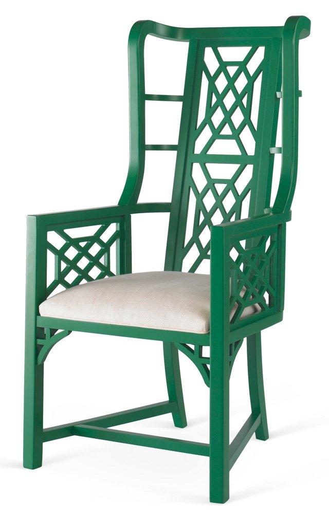 Kings Grant Chair, Emerald/Snow