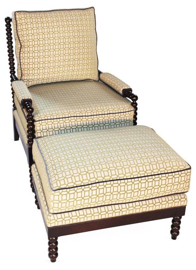 Gregg Chair & Ottoman, Avocado