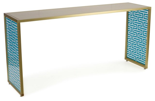 Tribeca Console, Turquoise