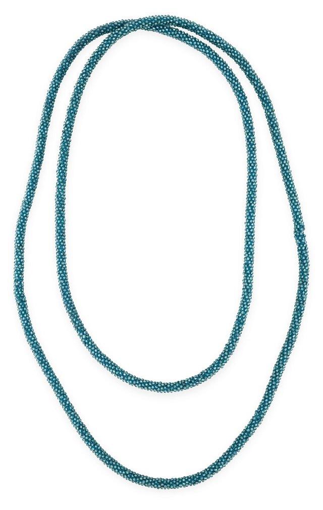 1920s Blue Bead Sautoir