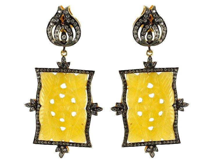 Leila Yellow Resin Earrings