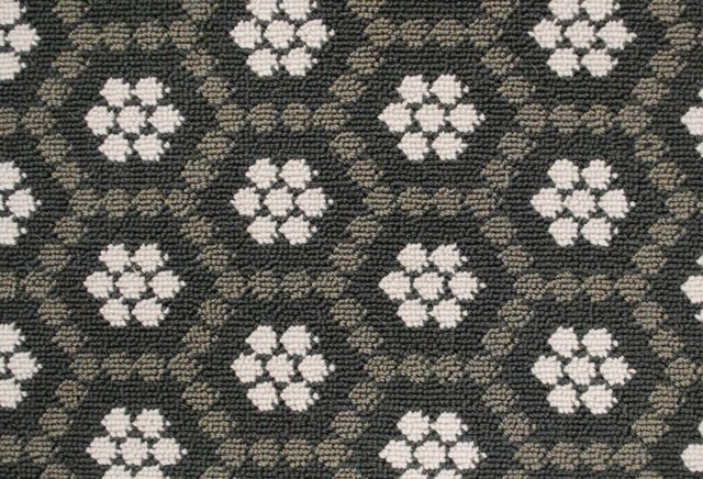 Honeycomb Wool Rug, Gray