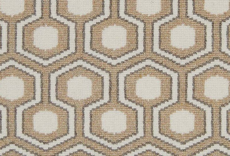 4'x6' Hexagon House Wool Rug, Amber