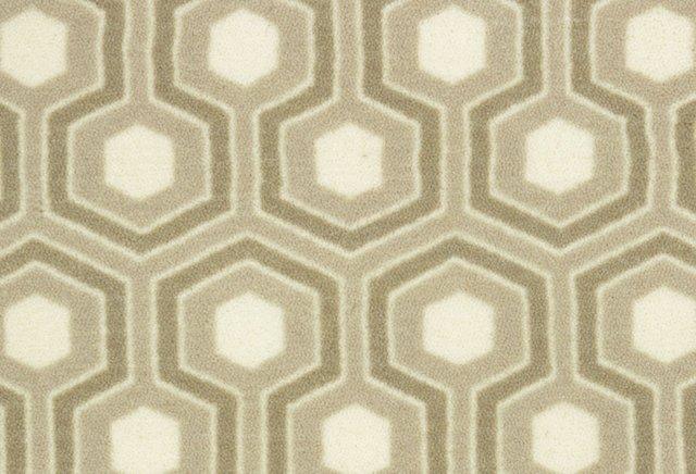 Hexagram Nylon Rug, Beige