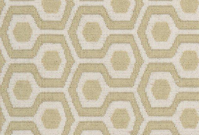 Hexagon House Wool Rug, Oatmeal