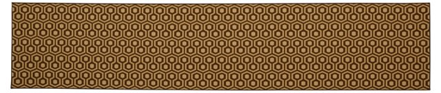 "2'6""x12' Hexagon House Wool Runner, Coco"