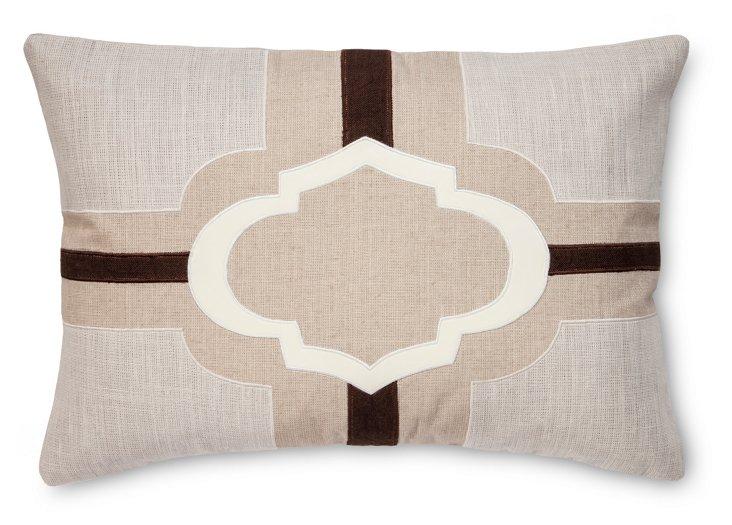 Sophia 16x24 Linen-Blend Pillow, Multi
