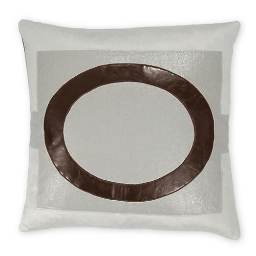 Lawson 22x22 Linen-Blend Pillow, Multi
