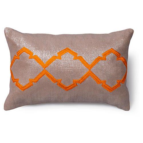 Caitlin 12x18 Linen Pillow, Beige