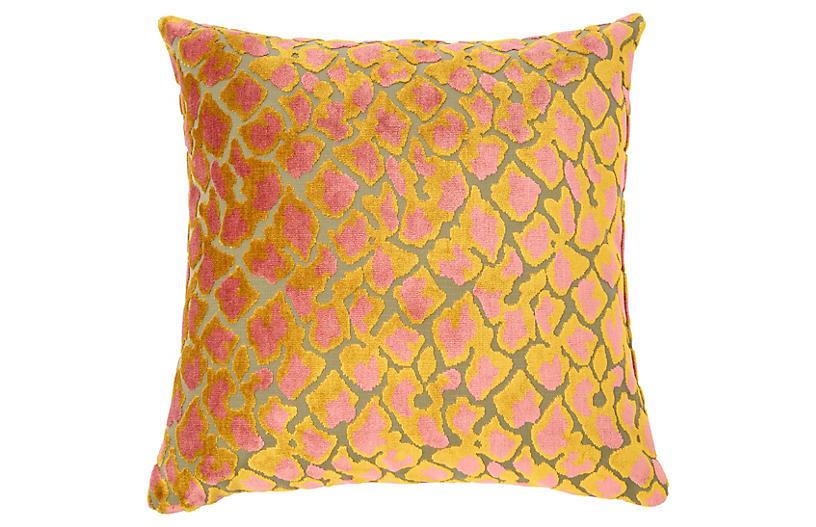 Kendrick 22x22 Velvet Pillow, Multi