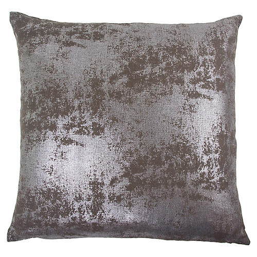 Angela 22x22 Cotton Pillow, Chocolate