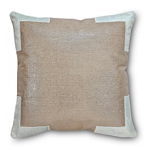 Tracy 24x24 Cotton Pillow, Mint