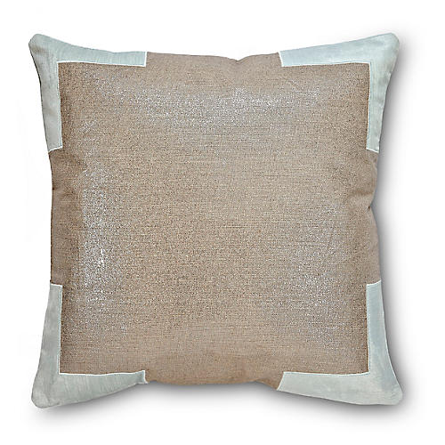 Tracy 24x24 Cotton Pillow, Mint