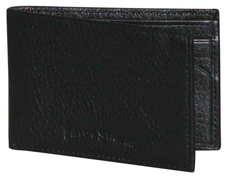 Leather Front Pocket Wallet, Black