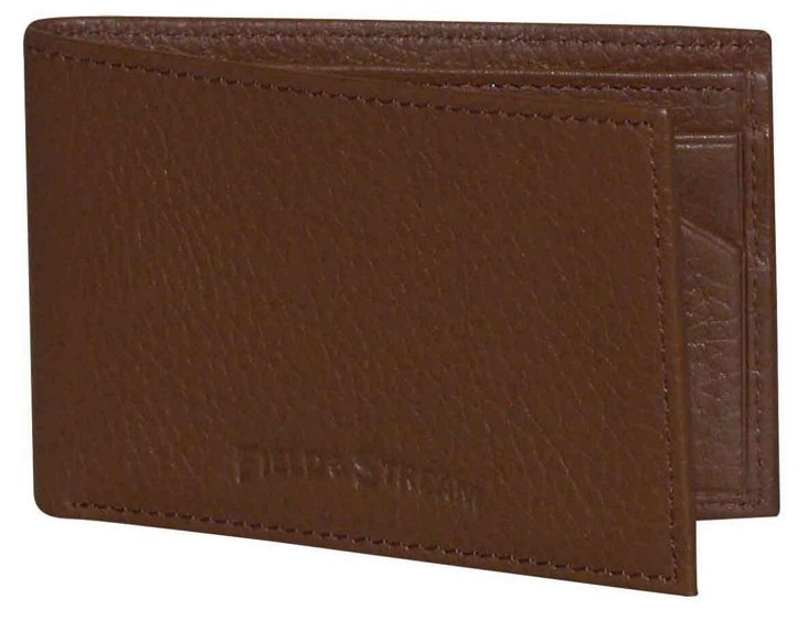Leather Front Pocket Wallet, Tan