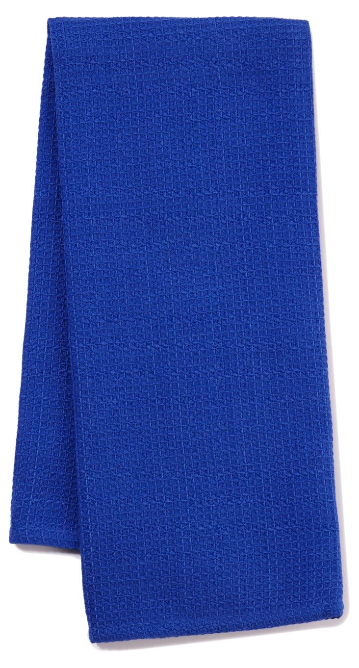 S/3 Waffle Dish Towels, Blueberry