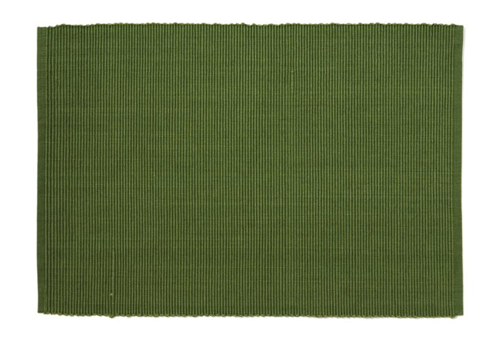 S/4 Basics Place Mats, Vineyard Green