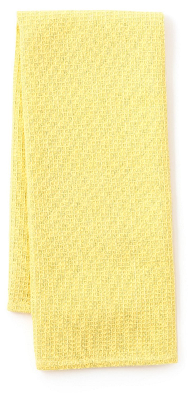 S/3 Waffle Dish Towels, Yellow