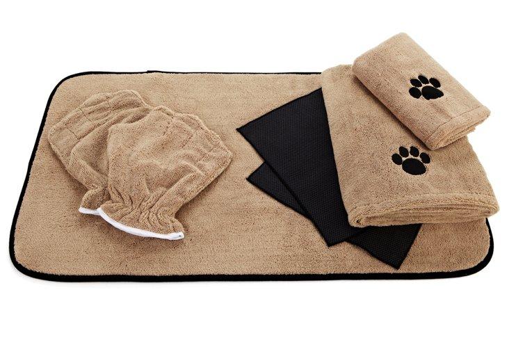 Boy Dog Microfiber Washing Set, Brown